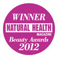 Natural Health Magazine Winner Best Organic Range 2012