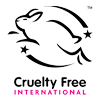 Cruelty Free International - We are certified by Cruelty Free International which guarantees our products have not been tested on animals and meets the Humane Cosmetics Standard for cosmetics toiletries and personal care.